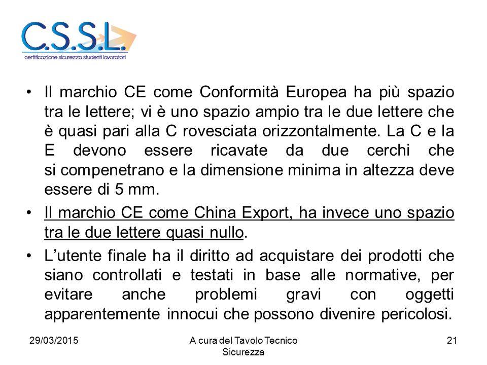 21 Il marchio CE come Conformità Europea ha più spazio tra le lettere; vi è uno spazio ampio tra le due lettere che è quasi pari alla C rovesciata ori