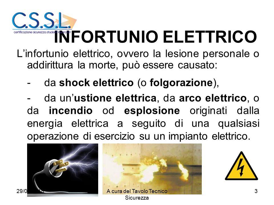 3 L'infortunio elettrico, ovvero la lesione personale o addirittura la morte, può essere causato: -da shock elettrico (o folgorazione), -da un'ustione