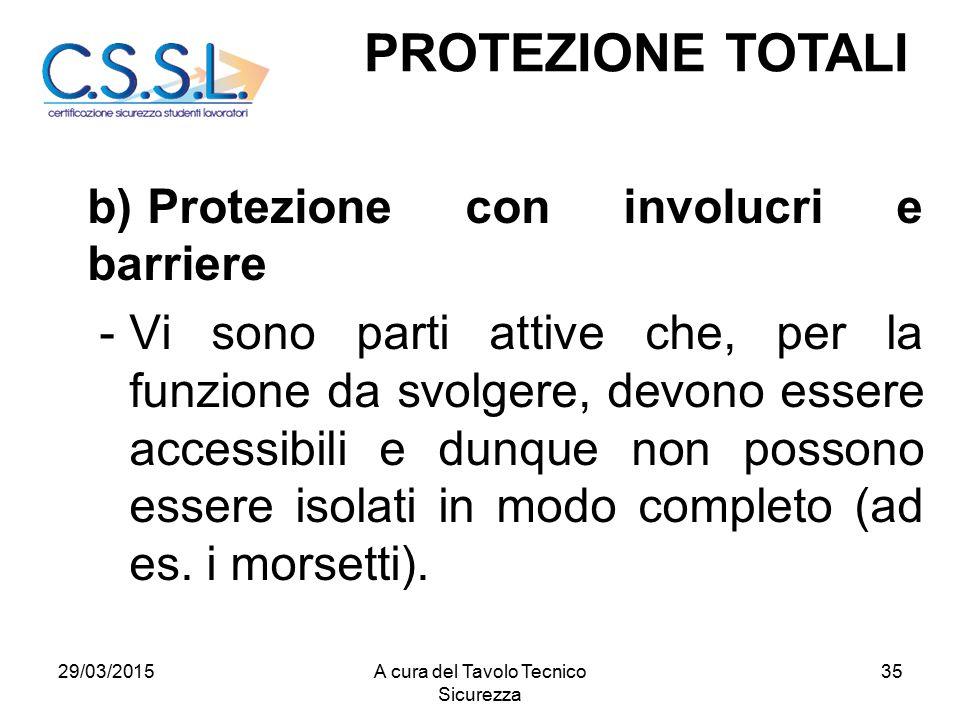 35 b)Protezione con involucri e barriere -Vi sono parti attive che, per la funzione da svolgere, devono essere accessibili e dunque non possono essere isolati in modo completo (ad es.