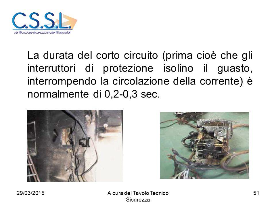 51 La durata del corto circuito (prima cioè che gli interruttori di protezione isolino il guasto, interrompendo la circolazione della corrente) è normalmente di 0,2-0,3 sec.