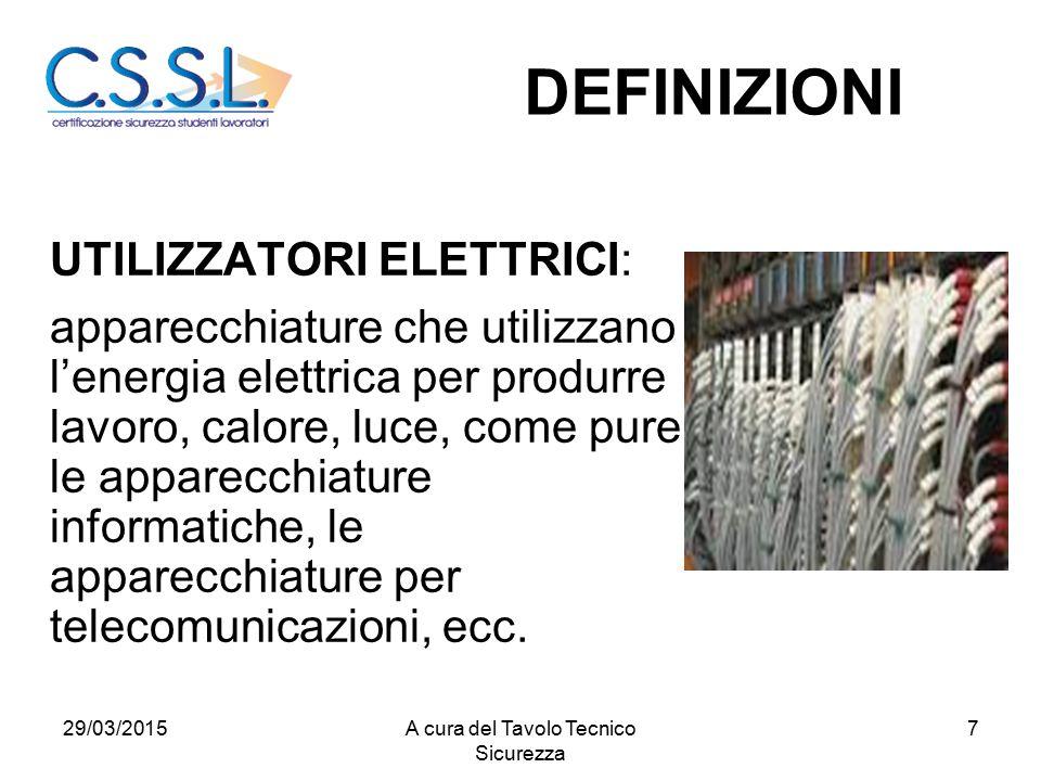 7 UTILIZZATORI ELETTRICI: apparecchiature che utilizzano l'energia elettrica per produrre lavoro, calore, luce, come pure le apparecchiature informati