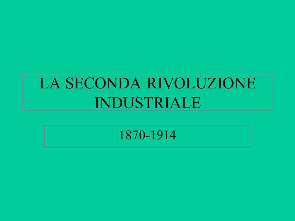 LA SECONDA RIVOLUZIONE INDUSTRIALE 1870-1914