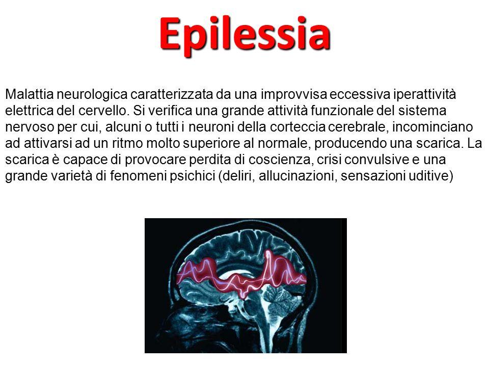 Malattia neurologica caratterizzata da una improvvisa eccessiva iperattività elettrica del cervello. Si verifica una grande attività funzionale del si