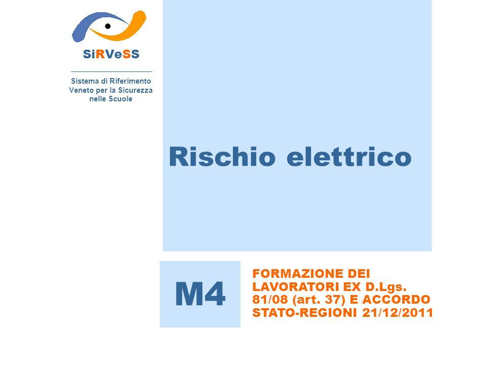 SiRVeSS Sistema di Riferimento Veneto per la Sicurezza nelle Scuole M4 FORMAZIONE DEI LAVORATORI EX D.Lgs. 81/08 (art. 37) E ACCORDO STATO-REGIONI 21/