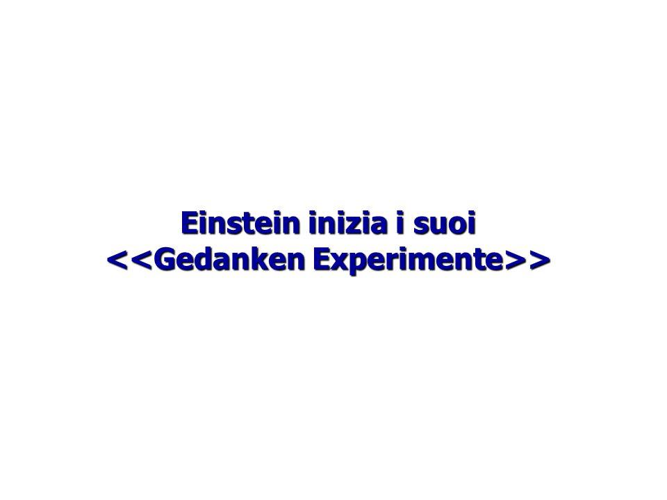 Einstein inizia i suoi >