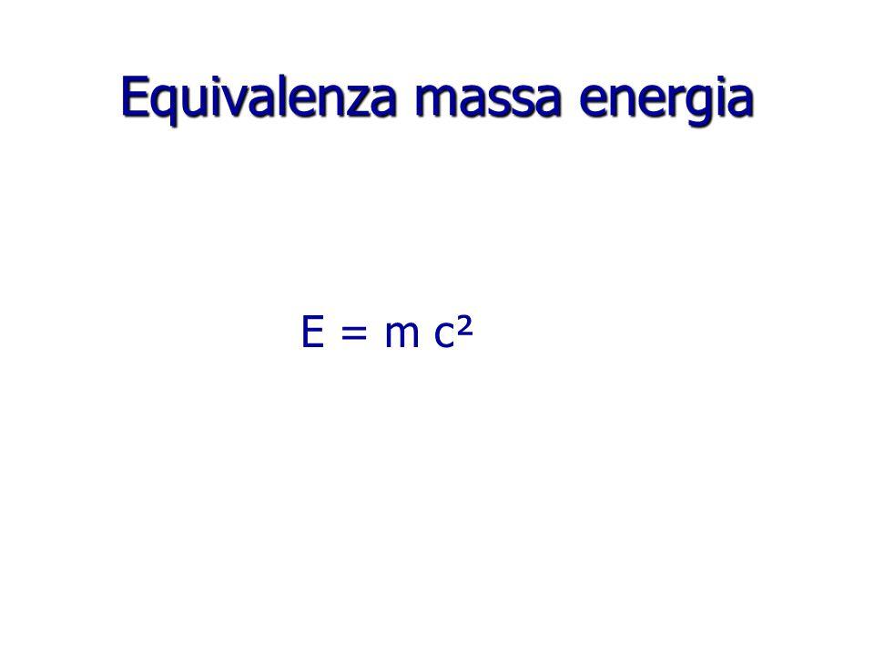 Equivalenza massa energia E = m c²