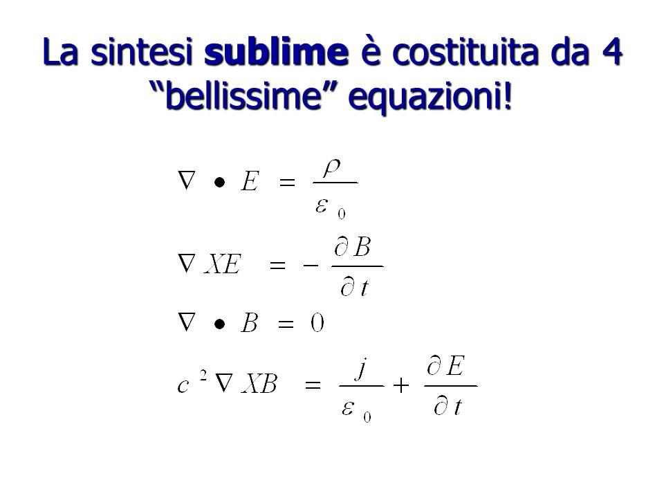 La sintesi sublime è costituita da 4 bellissime equazioni!