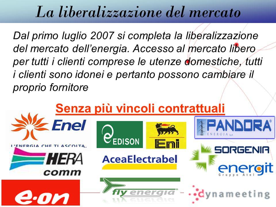 GRUPPO TELECOM ITALIA Come sicuramente saprà,dal 1°luglio 2007,con la liberalizzazione del mercato dell'energia,tutti possono clienti possono decidere di cambiare il proprio fornitore in qualsiasi momento senza nessun vincolo, ne penali.