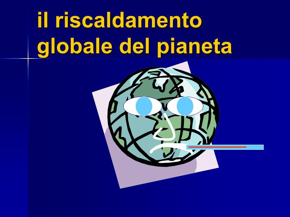 il riscaldamento globale del pianeta