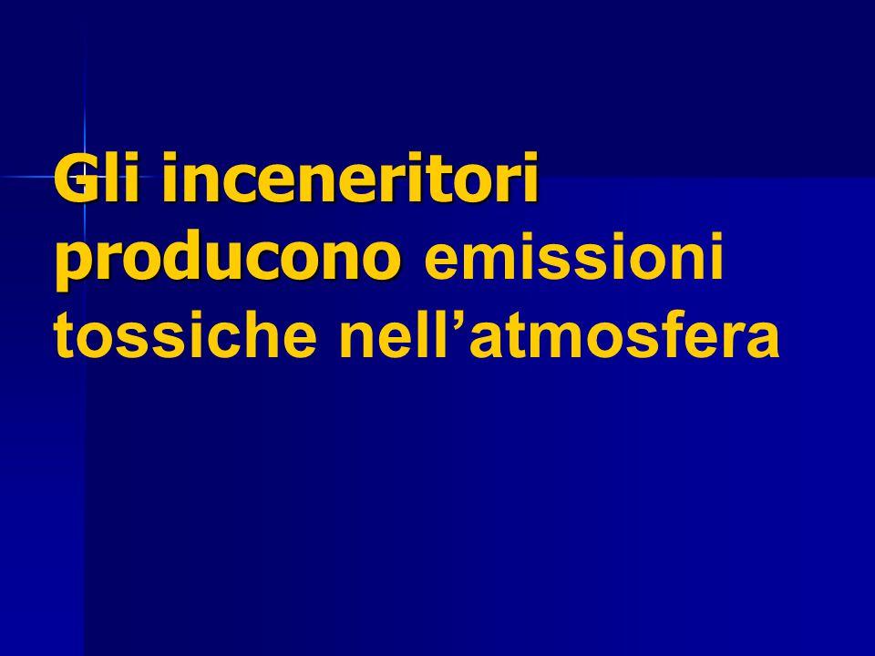 Gli inceneritori producono Gli inceneritori producono emissioni tossiche nell'atmosfera