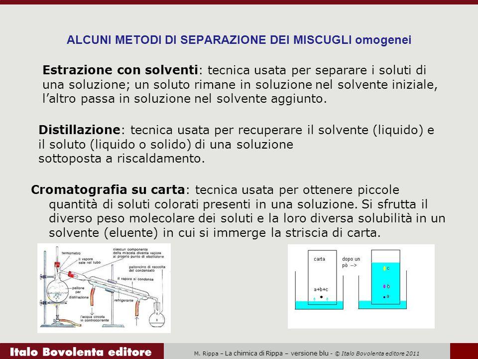 M. Rippa – La chimica di Rippa – versione blu - © Italo Bovolenta editore 2011 ALCUNI METODI DI SEPARAZIONE DEI MISCUGLI omogenei Cromatografia su car