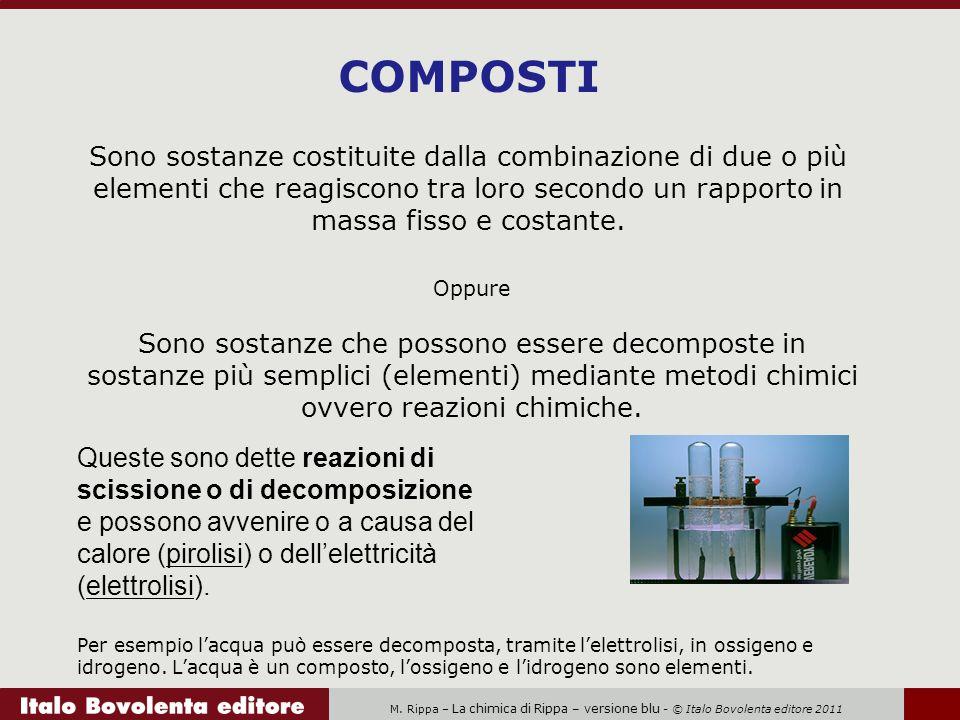 M. Rippa – La chimica di Rippa – versione blu - © Italo Bovolenta editore 2011 Oppure Sono sostanze che possono essere decomposte in sostanze più semp