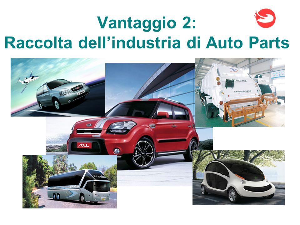 Vantaggio 2: Raccolta dell'industria di Auto Parts
