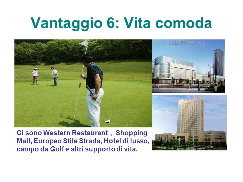 Vantaggio 6: Vita comoda Ci sono Western Restaurant , Shopping Mall, Europeo Stile Strada, Hotel di lusso, campo da Golf e altri supporto di vita.