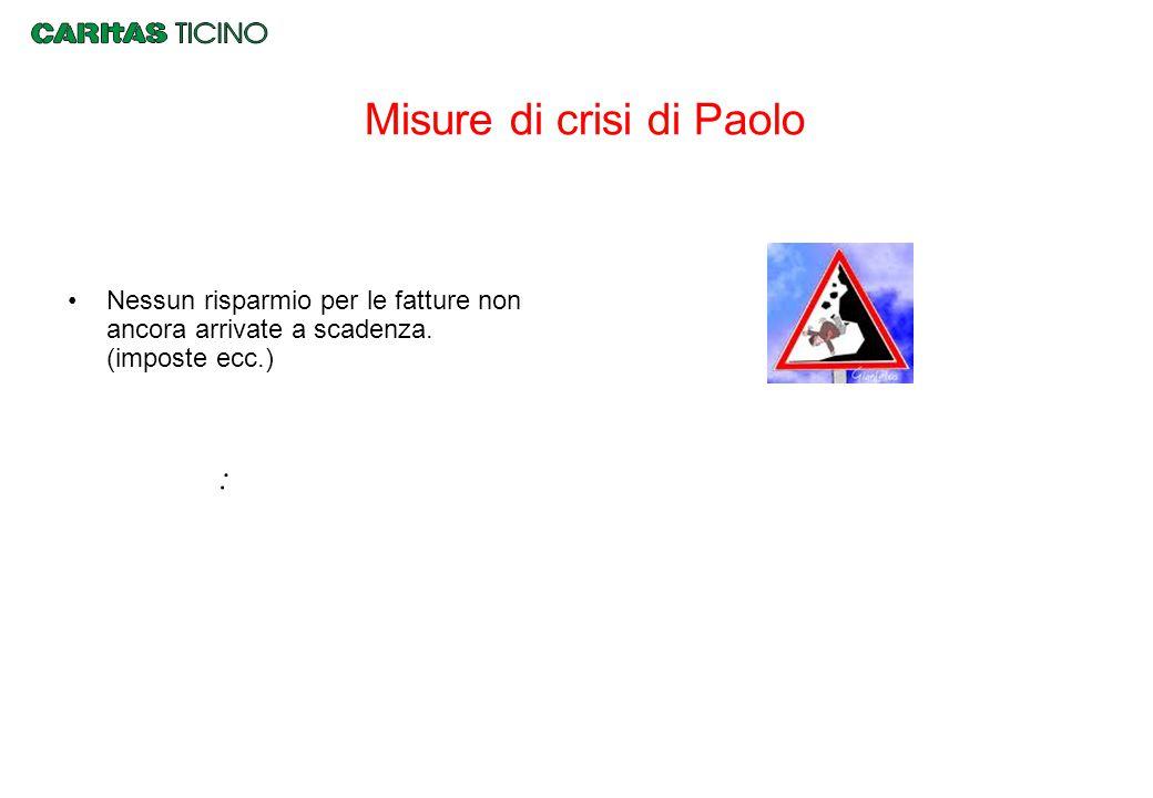 Misure di crisi di Paolo Nessun risparmio per le fatture non ancora arrivate a scadenza. (imposte ecc.) :