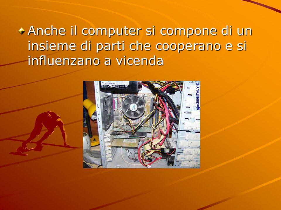 Anche il computer si compone di un insieme di parti che cooperano e si influenzano a vicenda