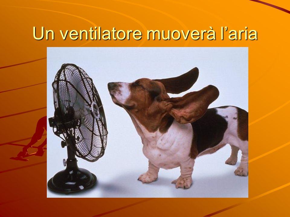 Un ventilatore muoverà l'aria