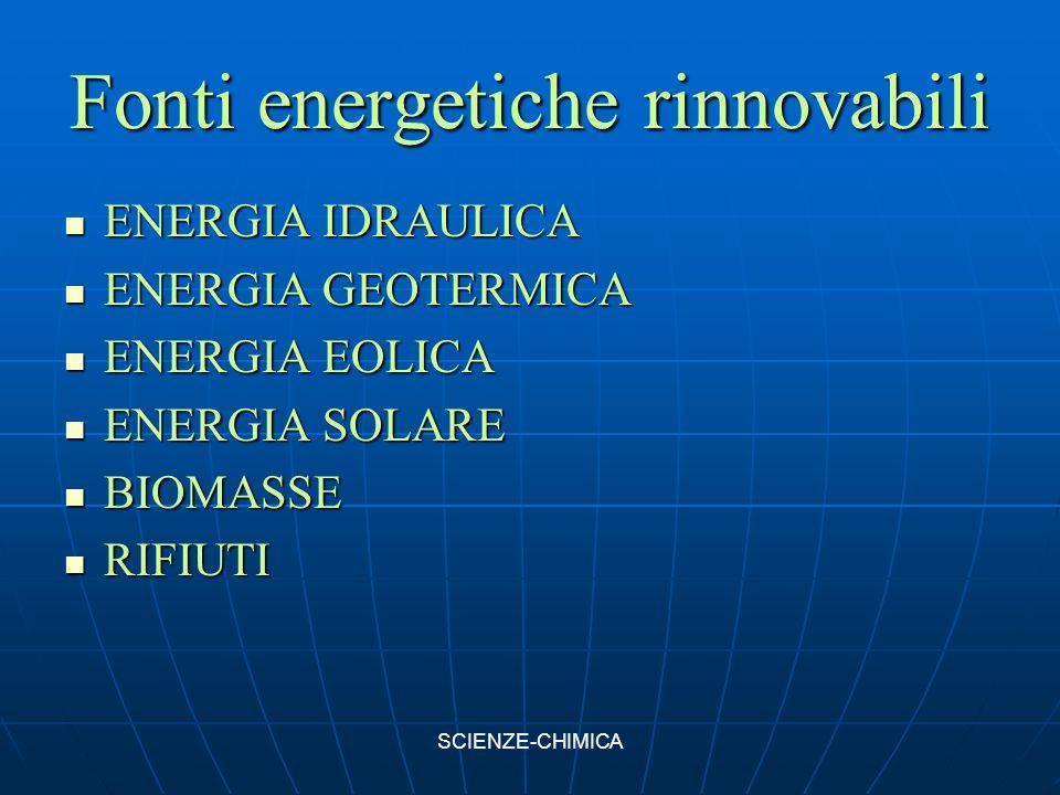 Fonti energetiche rinnovabili ENERGIA IDRAULICA ENERGIA IDRAULICA ENERGIA GEOTERMICA ENERGIA GEOTERMICA ENERGIA EOLICA ENERGIA EOLICA ENERGIA SOLARE E