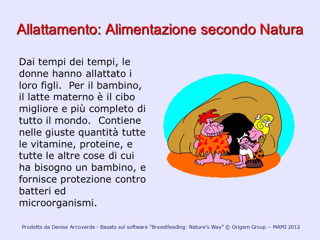 Allattamento: Alimentazione secondo Natura Prodotto da Denise Arcoverde - Basato sul software