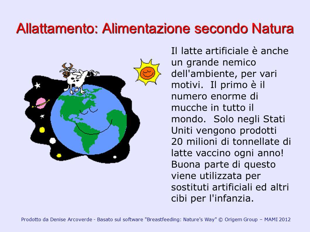 Allattamento: Alimentazione secondo Natura Il latte artificiale è anche un grande nemico dell'ambiente, per vari motivi. Il primo è il numero enorme d
