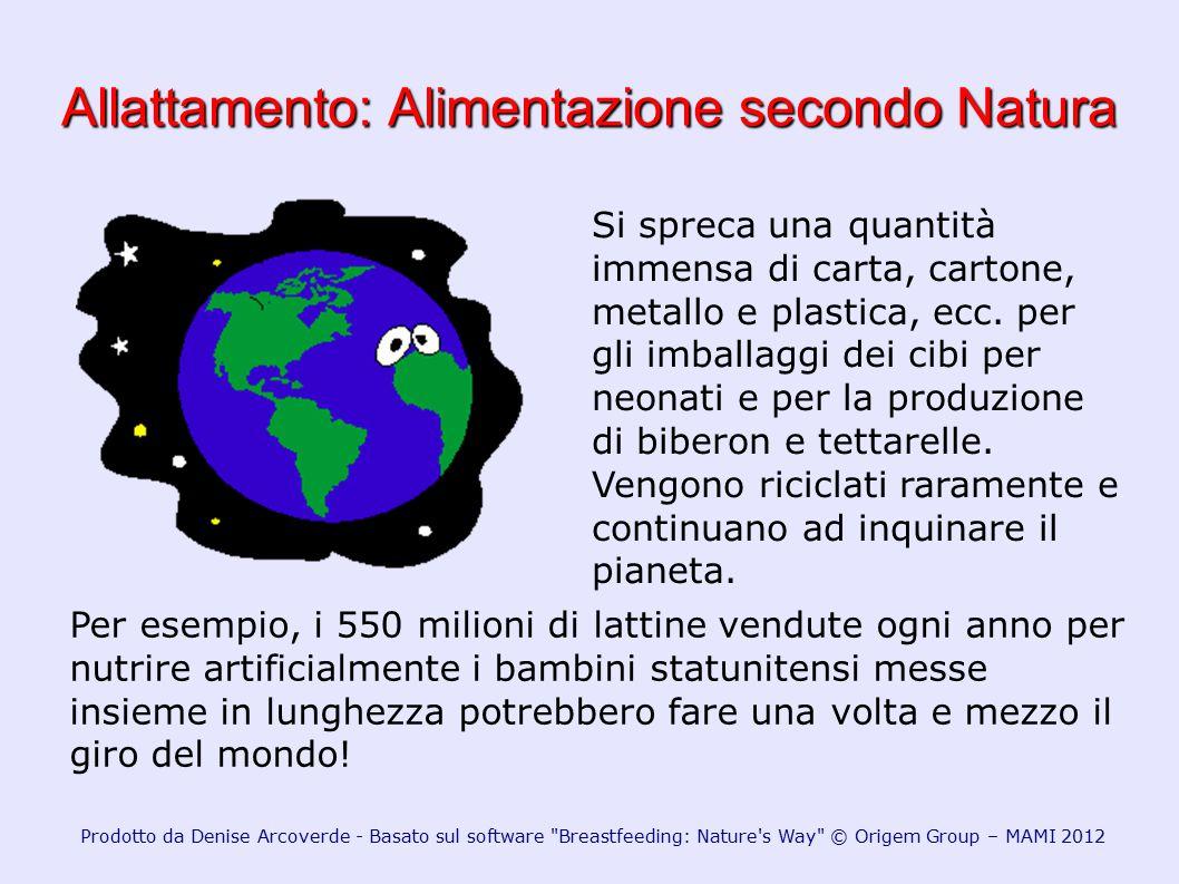 Allattamento: Alimentazione secondo Natura Si spreca una quantità immensa di carta, cartone, metallo e plastica, ecc. per gli imballaggi dei cibi per