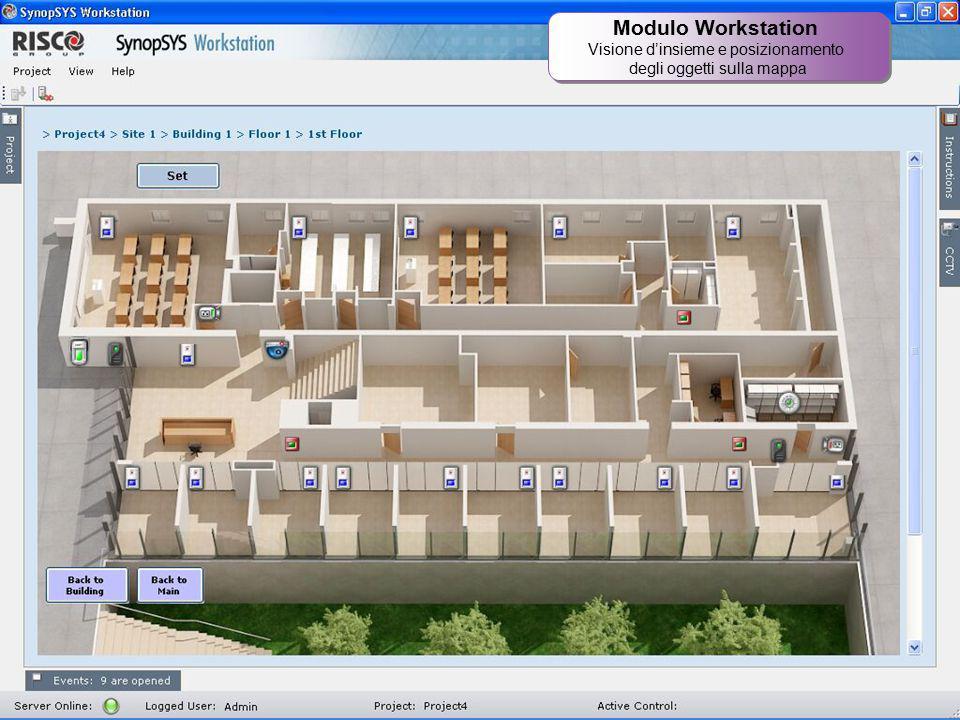 23 Modulo Workstation Visione d'insieme e posizionamento degli oggetti sulla mappa Modulo Workstation Visione d'insieme e posizionamento degli oggetti
