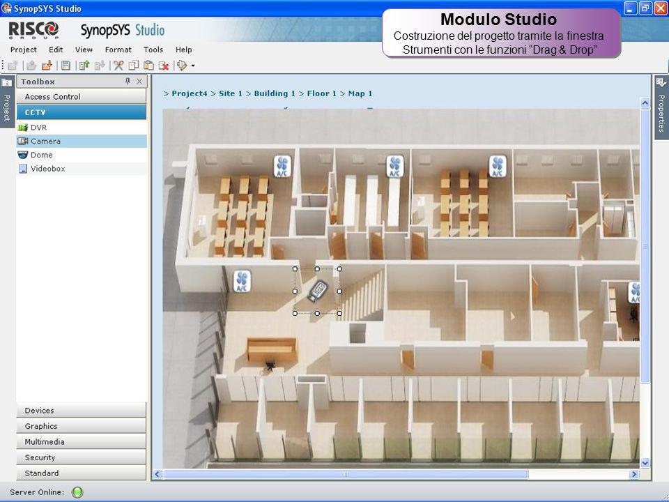 """30 Modulo Studio Costruzione del progetto tramite la finestra Strumenti con le funzioni """"Drag & Drop"""" Modulo Studio Costruzione del progetto tramite l"""