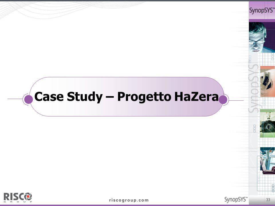 33 Case Study – Progetto HaZera