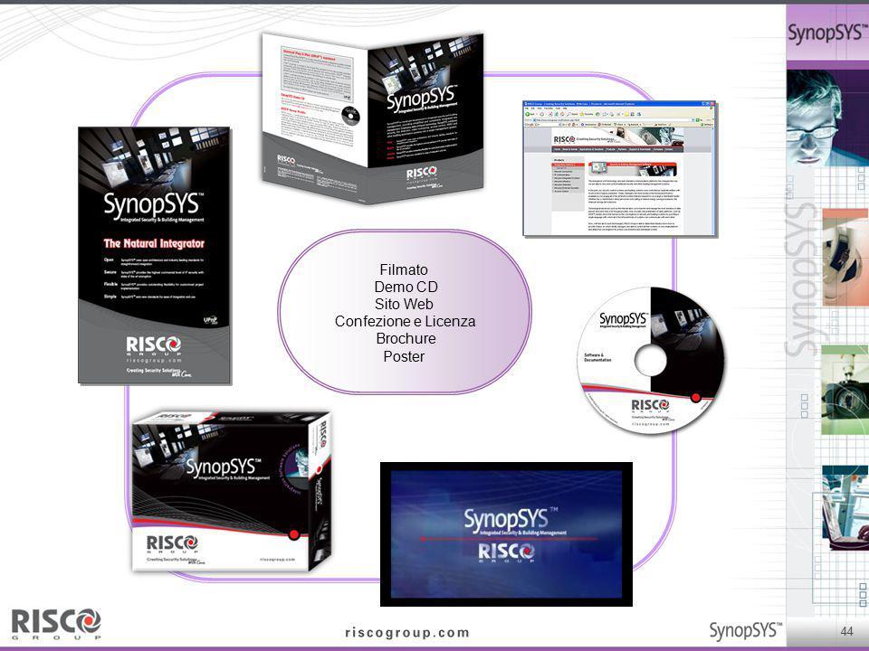 44 Filmato Demo CD Sito Web Confezione e Licenza Brochure Poster