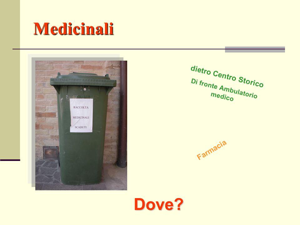 Medicinali Dove? dietro Centro Storico Di fronte Ambulatorio medico Farmacia