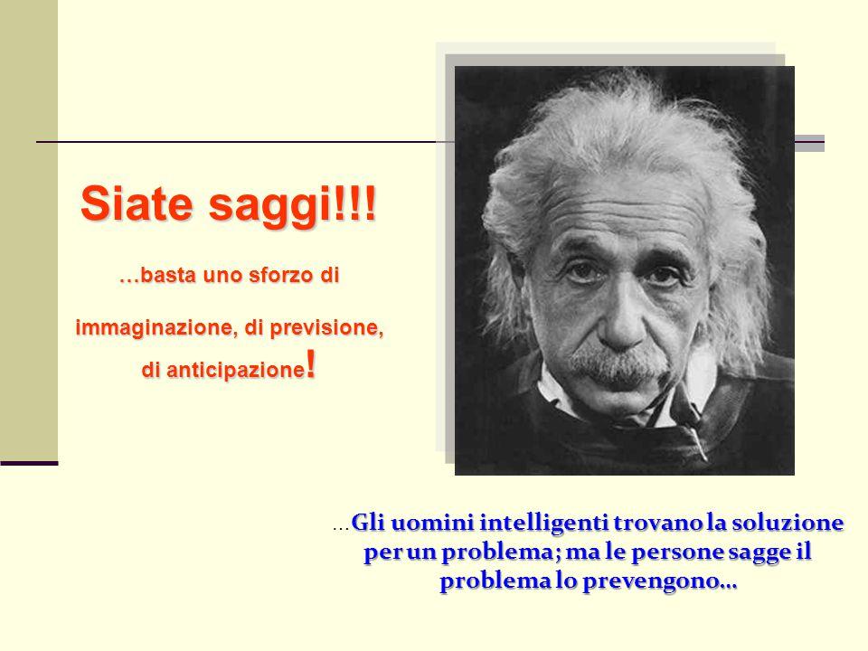 Gli uomini intelligenti trovano la soluzione per un problema; ma le persone sagge il problema lo prevengono… … Gli uomini intelligenti trovano la solu