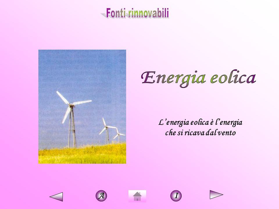 L'energia eolica è l'energia che si ricava dal vento AI