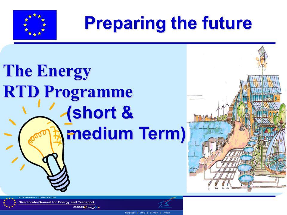 Preparing the future The Energy RTD Programme (short & (short & medium Term) medium Term)