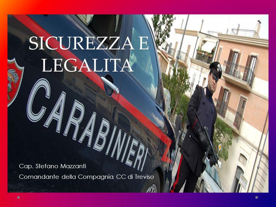 Cap. Stefano Mazzanti Comandante della Compagnia CC di Treviso SICUREZZA E LEGALITA '