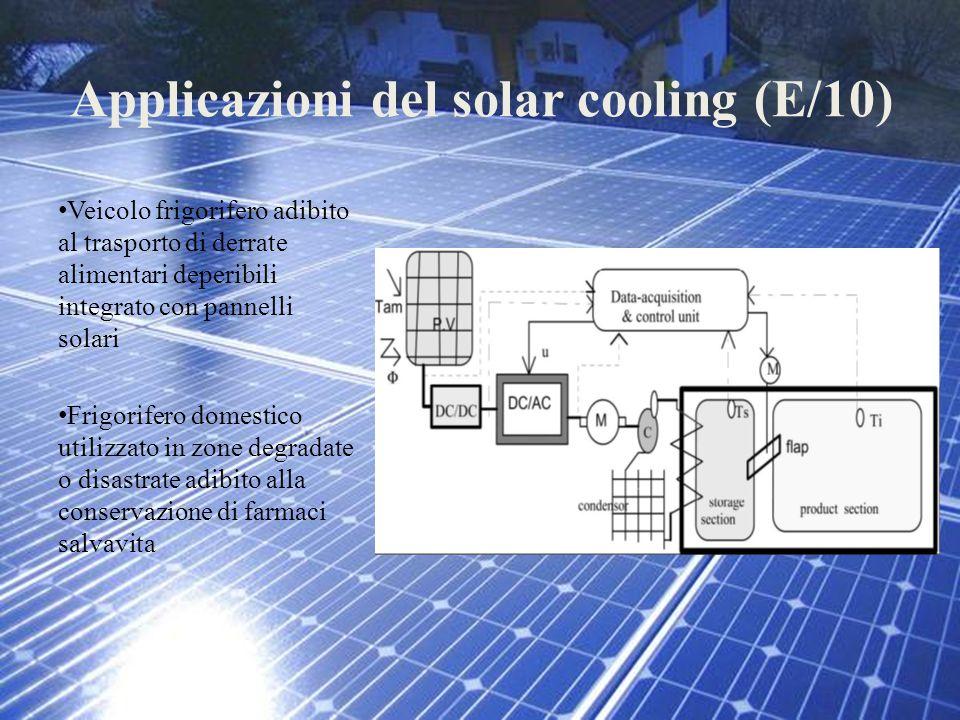 Applicazioni del solar cooling (E/10) Veicolo frigorifero adibito al trasporto di derrate alimentari deperibili integrato con pannelli solari Frigorif