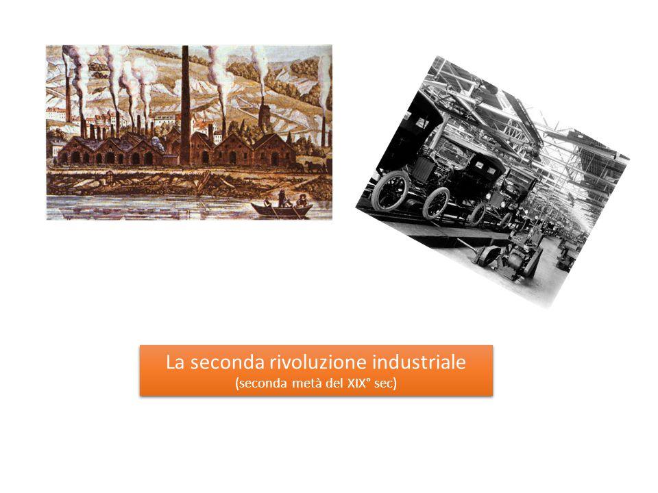 La seconda rivoluzione industriale (seconda metà del XIX° sec) La seconda rivoluzione industriale (seconda metà del XIX° sec)