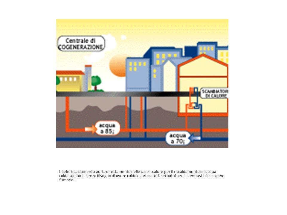 Il teleriscaldamento porta direttamente nelle case il calore per il riscaldamento e l'acqua calda sanitaria senza bisogno di avere caldaie, bruciatori