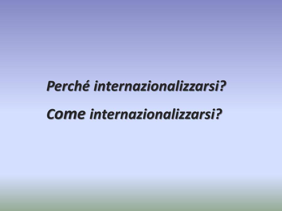 Perché internazionalizzarsi? C ome internazionalizzarsi?