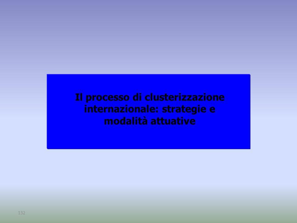 132 Il processo di clusterizzazione internazionale: strategie e modalità attuative