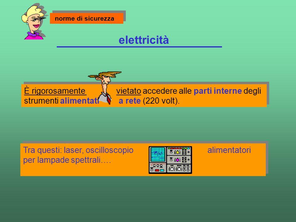elettricità Tra questi: laser, oscilloscopio alimentatori per lampade spettrali…. Tra questi: laser, oscilloscopio alimentatori per lampade spettrali…