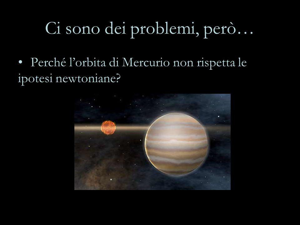 Ci sono dei problemi, però… Perché l'orbita di Mercurio non rispetta le ipotesi newtoniane