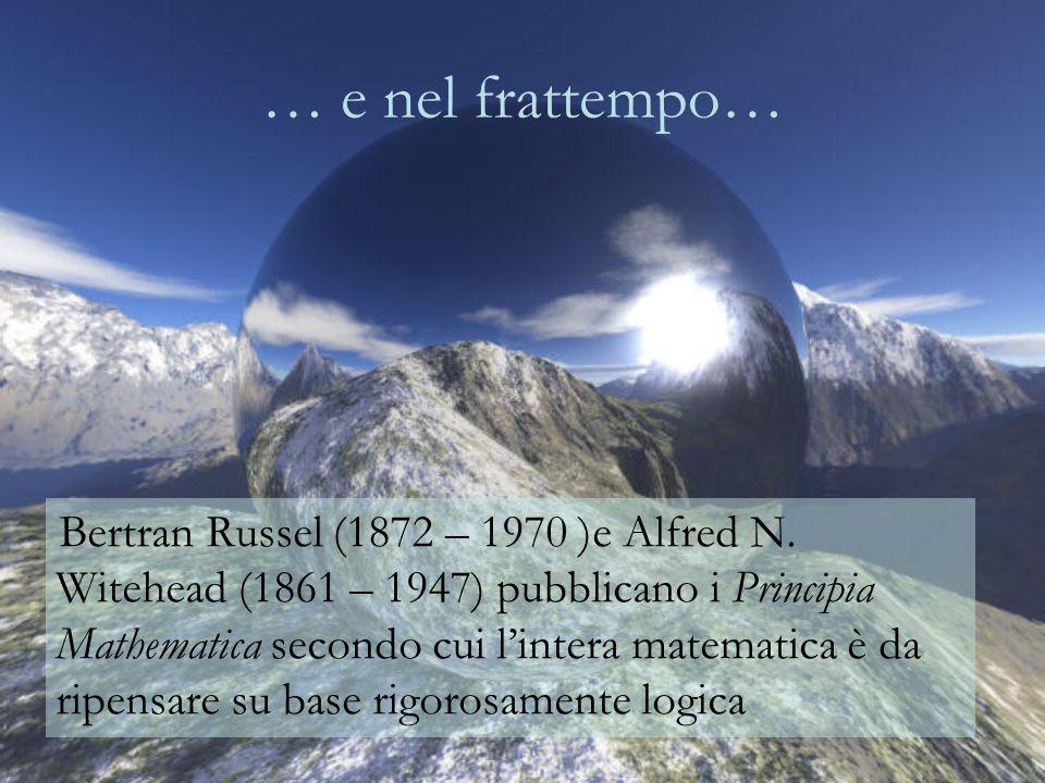 … e nel frattempo… Bertran Russel (1872 – 1970 )e Alfred N.