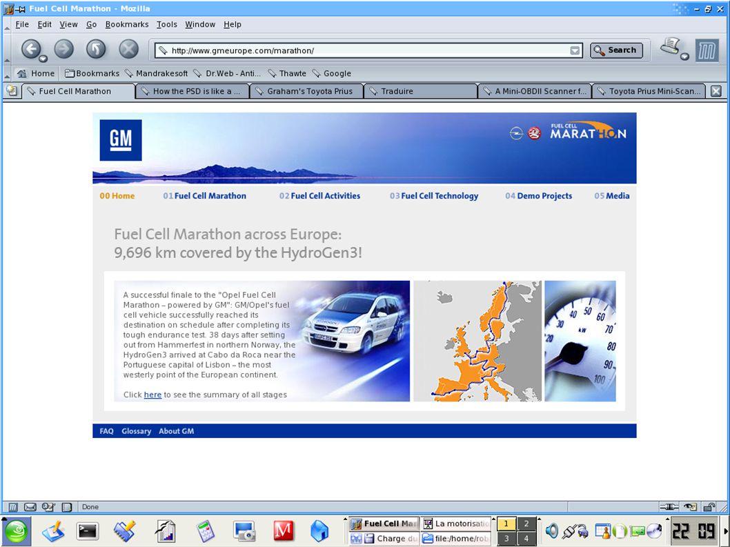 La motorisation hybrideFrançois Roby – UPPA - octobre 2004 Fuel Cell Marathon (mai – juin 2004)