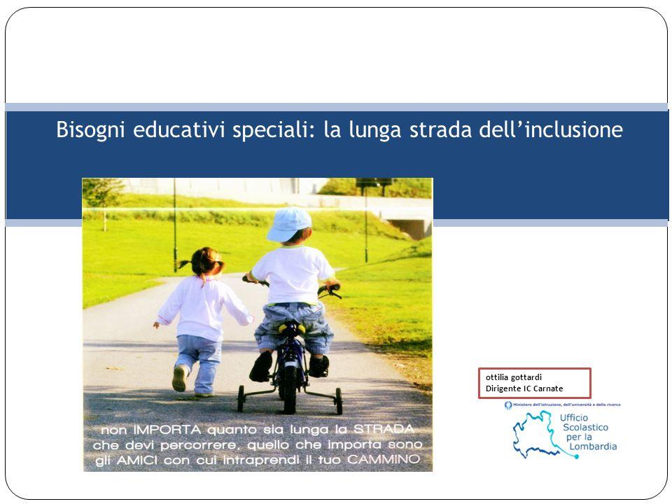 Bisogni educativi speciali: la lunga strada dell'inclusione ottilia gottardi Dirigente IC Carnate