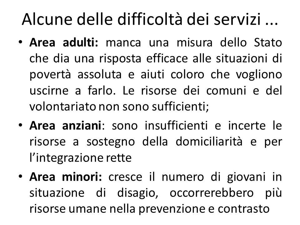 Alcune delle difficoltà dei servizi...