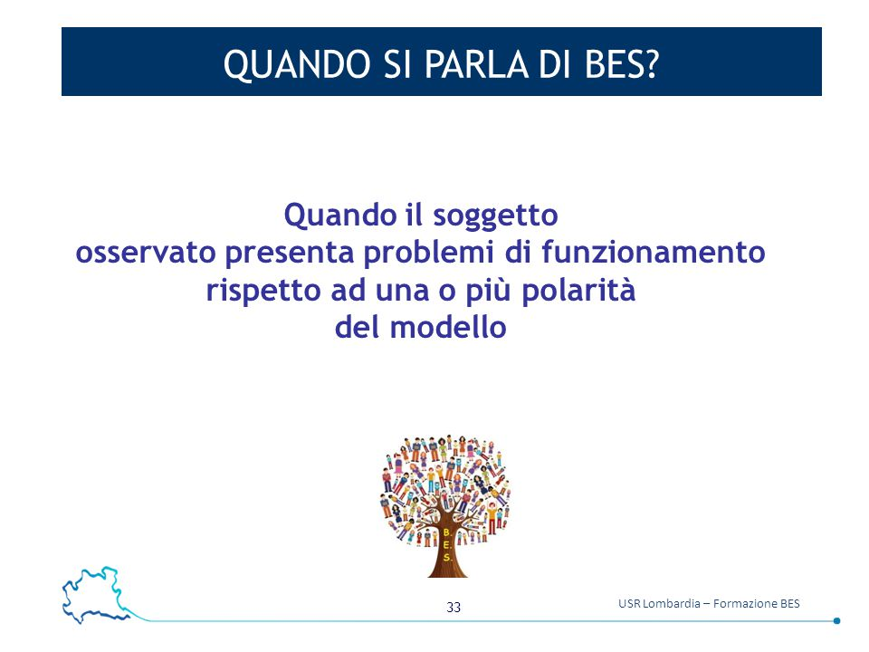 33 USR Lombardia – Formazione BES QUANDO SI PARLA DI BES.
