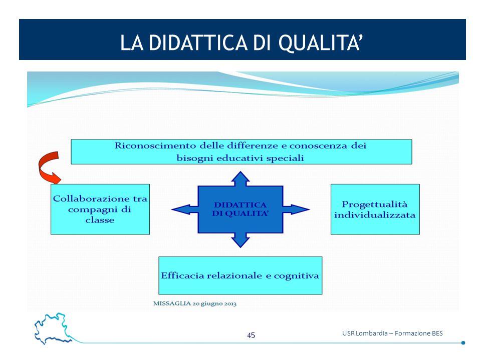 45 USR Lombardia – Formazione BES LA DIDATTICA DI QUALITA'