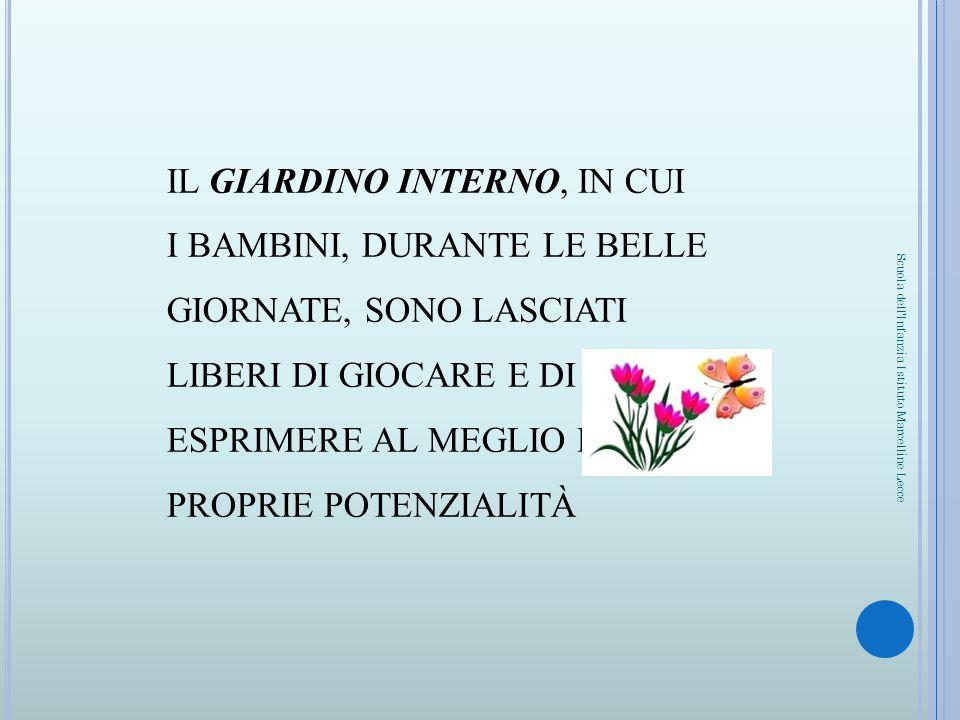 Foto giardino interno Scuola dell Infanzia Istituto Marcelline Lecce