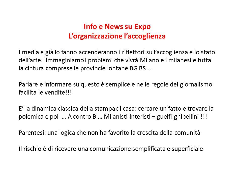 Info e News su Expo L'organizzazione l'accoglienza Esempio: Milano chiede agli Uffizi l'Annunciazione di Leonardo Firenze risponde picche … Il corriere ne parla e con lui tutti i giornali