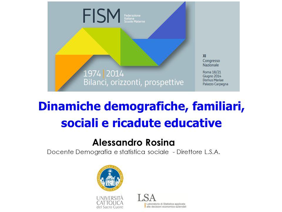 Alessandro Rosina Docente Demografia e statistica sociale - Direttore L.S.A. Dinamiche demografiche, familiari, sociali e ricadute educative